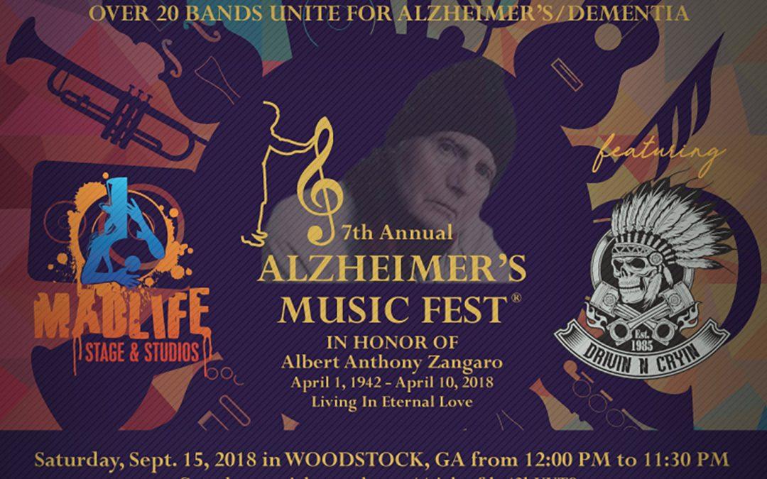 7th Annual Alzheimer's Music Fest in Woodstock, GA.
