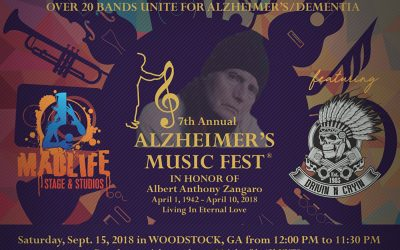 7th Annual Alzheimer's Music Fest in Woodstock, GA.