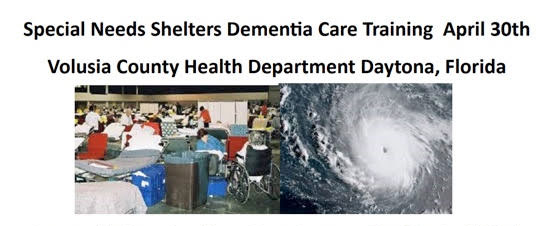 Dementia Special Needs Shelter Training