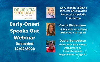 Early-Onset Speaks Out Webinar